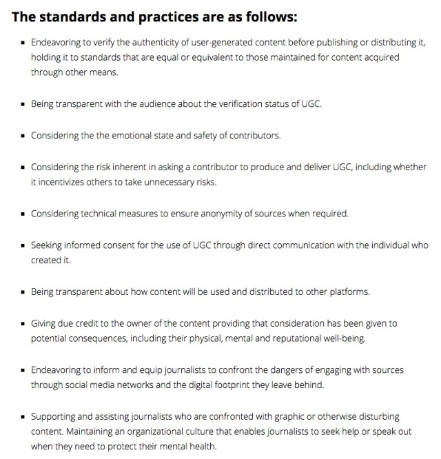ONA Social Newsgathering Ethics Code – ONA s Digital Toolkit